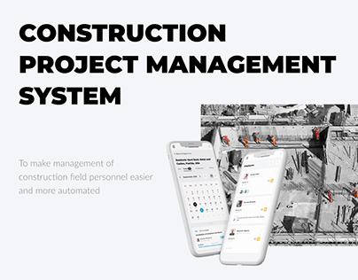 Construction project management system