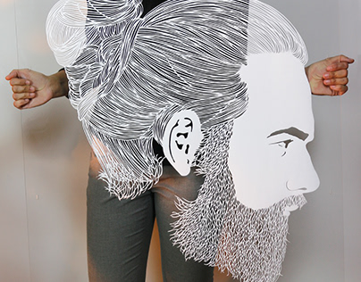 I Cut Hair On Paper | Papercutting Art