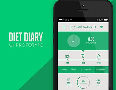 DIET DIARY - APP PROTOTYPE