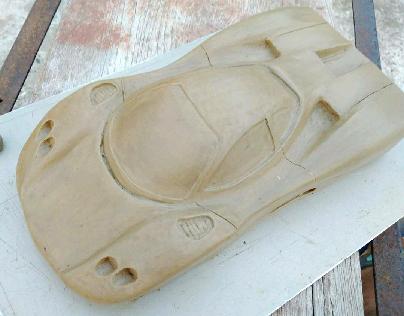 clay model of pagani zonda