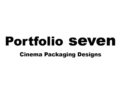 Portfolio Seven - Cinema Packaging Designs