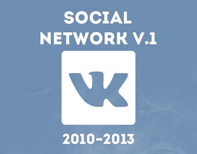 Social network vk.com groups design v.1