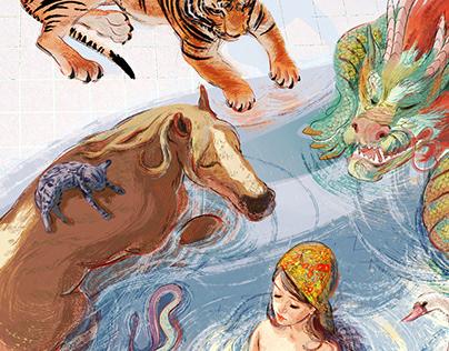 Calendar 2021 - fairytales with a feminine perspective.
