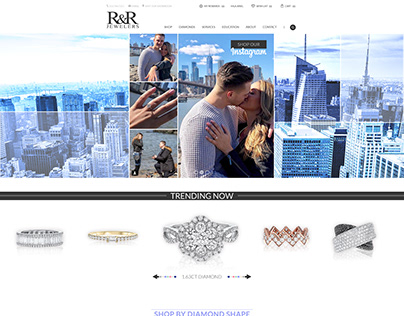 jewelry website and banners design