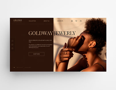 landing page for jewelry shop
