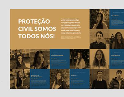 Proteção Civil Somos Todos Nós // Logo & Poster Design