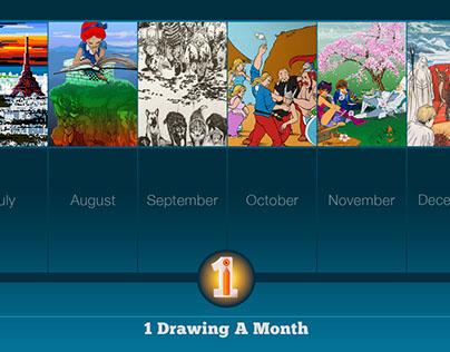 1 Drawing A Month Mid-Season Recap