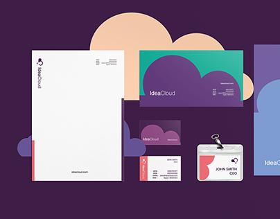 Idea cloud Brand Identity Design.
