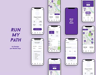 Run My Path - App Ux Design