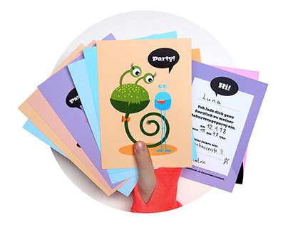 Invitations and Decor for Children's Birthday Party