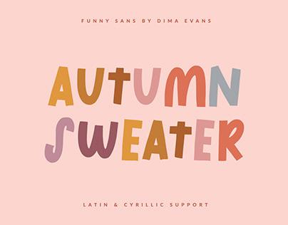 Autumn Sweater Cute Latin/Cyrillic Font