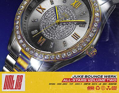 "Juke Bounce Werk ""All-Stars Vol. II"" album artwork"