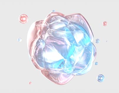 C4D color flexible body animation