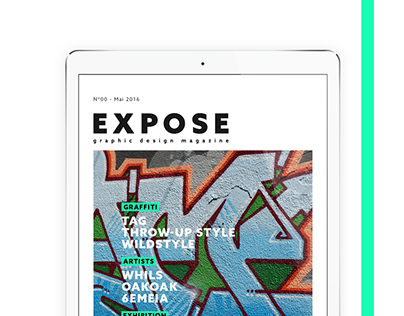 GRAPHIC DESIGN // Expose Magazine