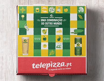 Telepizza Somersby pizza box