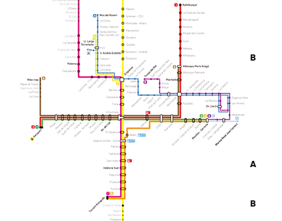 Proposed plan of Metro Valencia