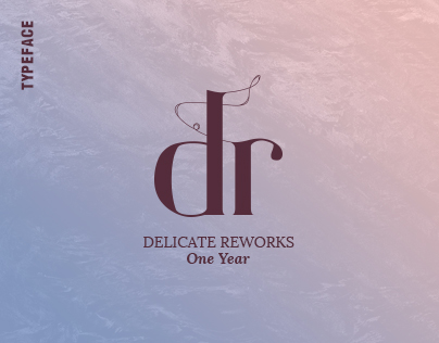 "Delicate V2 Typeface ""Reworks One Year"""