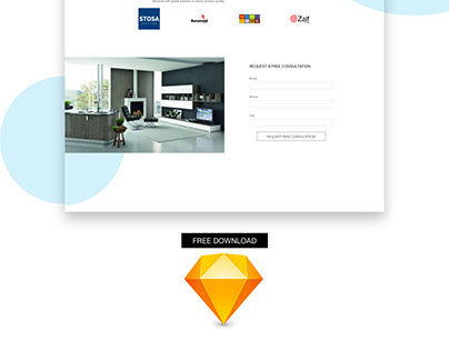 FREE-DOWNLOAD CONCEPT LANDING PAGE KITCHEN