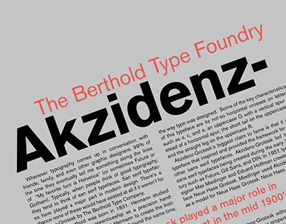 Historical Type Poster: Akzidenz-Grotesk