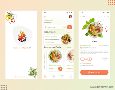 Flame food point app