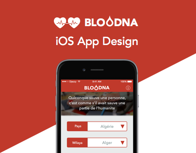 Bloodna iOS App Design