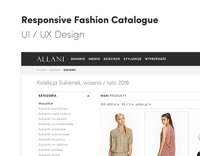 Allani — Responsive Fashion Catalogue