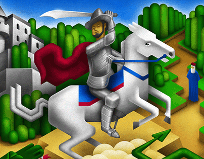 George and the Dragon Isometric 2d