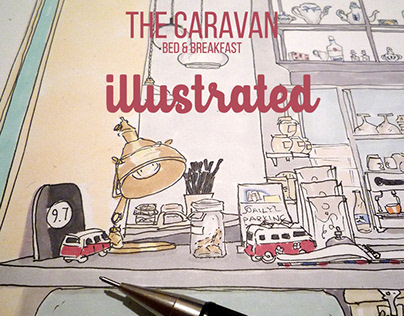 ''Caravan bed & breakfast'' Illustrated.2018