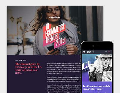 Design graphique pour les 10 tendances 2019
