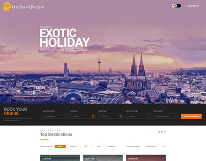 Graphic Design for Tours & Travel Booking Agency