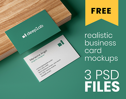 FREE Realistic Business Card Mockups
