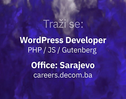 WordPress developer & Web Designer in Sarajevo