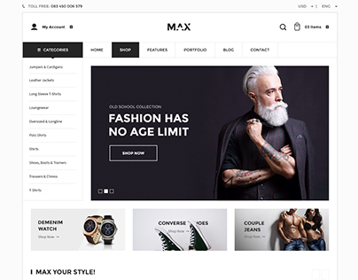 [FREE DOWNLOAD] Max - Responsive WooCommerce Theme