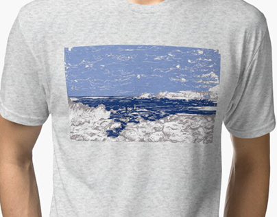 "Print Design ""Arctic Landscape"""