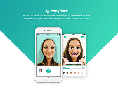 EmojiFace Mobile App & Web Design