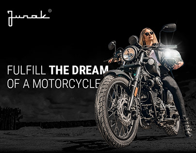 Junak - web design for motorcycle company