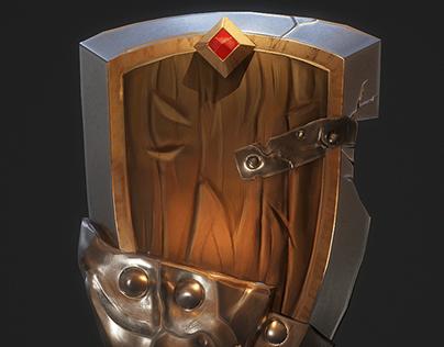 Stylized dwarf shield
