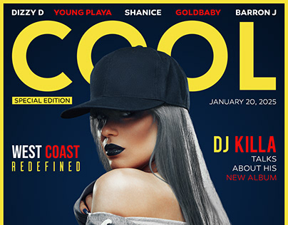 COOL MUSIC Magazine Cover - Photoshop Magazine Design