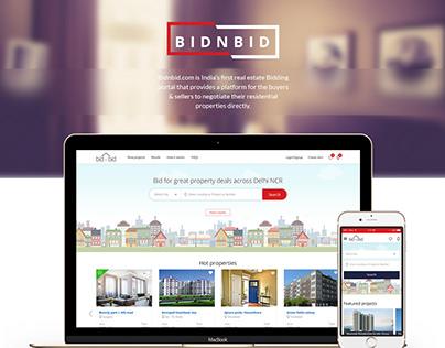 Bidnbid Website Design