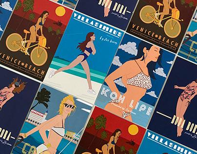 Series of Poster Illustrations for Zai Swim
