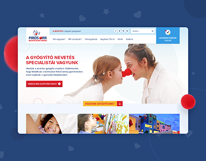 Red Noses Clowndoctors website redesign