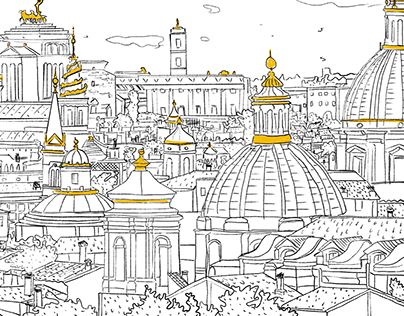 Coloring tour Rome