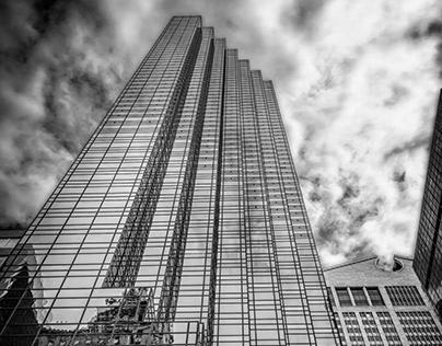 NY Skyscrapers IV B & W