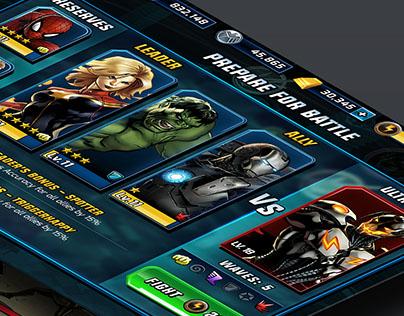 Marvel Avenger's Alliance 2 UI/UX