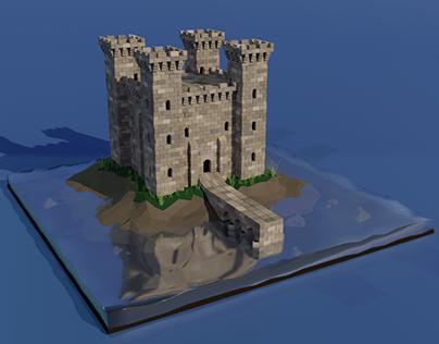 Castle diorama (Low Poly version)