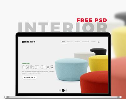 Interior – Multi-Purpose Store PSD Template Freebie