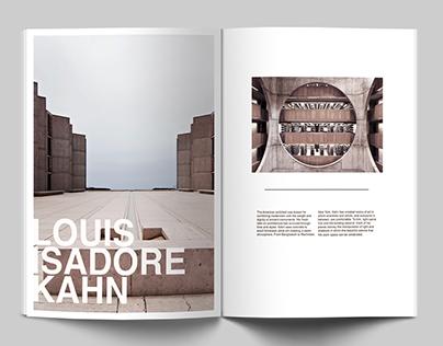 Louis Kahn Magazine Spread
