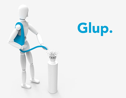 Glup. Watering can concept