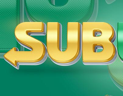 Subway - Logo 3D