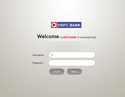 HDFC Bank Intra Portal Design